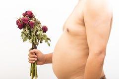 Corazón quebrado del hombre gordo Foto de archivo