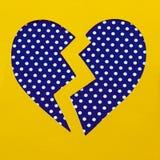 Corazón quebrado del lunar Fotografía de archivo libre de regalías