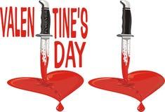 Corazón quebrado - el día de tarjeta del día de San Valentín Foto de archivo libre de regalías
