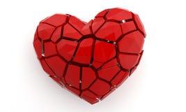 Corazón quebrado en blanco 3d rinden la ilustración Fotografía de archivo