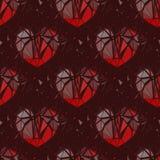 Corazón quebrado geométrico 3d Imagenes de archivo