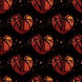 Corazón quebrado geométrico 3d Fotografía de archivo libre de regalías