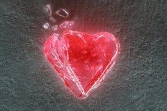 Corazón quebrado iluminado fotos de archivo libres de regalías