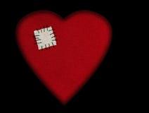 Corazón quebrado reparado - tarjeta del día de San Valentín etc Imágenes de archivo libres de regalías