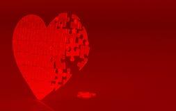 Corazón quebrado rojo Imagenes de archivo