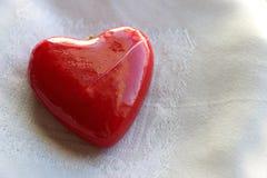Corazón quebrado, rojo Imagen de archivo libre de regalías