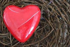 Corazón quebrado, rojo Imagen de archivo