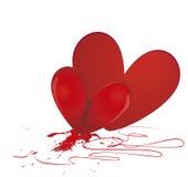 Corazón quebrado - vector Foto de archivo libre de regalías