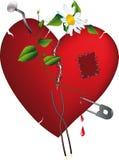 Corazón quebrado y amor Imágenes de archivo libres de regalías