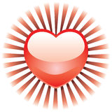 Corazón radiante Foto de archivo libre de regalías