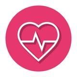 Corazón Rate In Circle Line Icon del vector Imágenes de archivo libres de regalías