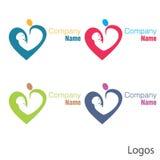 Corazón recién nacido del logotipo del bebé stock de ilustración