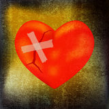 Corazón reparado Imagenes de archivo