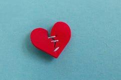 Corazón reparado Fotografía de archivo libre de regalías