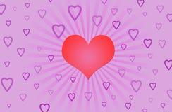 Corazón rojo Stock de ilustración