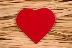 Corazón rojo. Foto de archivo