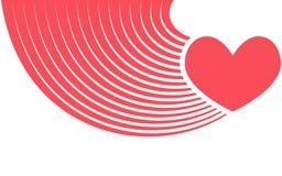 Corazón rojo abstracto - ejemplo del vector plano Fotografía de archivo