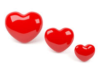 Corazón rojo aislado árbol Imagenes de archivo