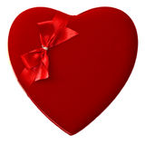 Corazón rojo aislado fotografía de archivo libre de regalías