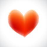 Corazón rojo aislado en el fondo blanco Fotografía de archivo libre de regalías