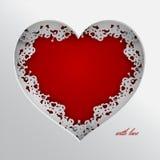 Corazón rojo atado con amor Fotografía de archivo