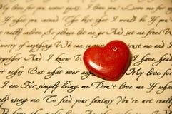 Corazón rojo con amor Imagen de archivo