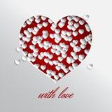 Corazón rojo con amor Fotografía de archivo libre de regalías