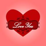 Corazón con amor de las palabras usted. Fotos de archivo