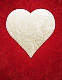 Corazón rojo con las rosas, vector Foto de archivo