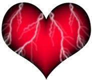 Corazón rojo con los recipientes Foto de archivo libre de regalías