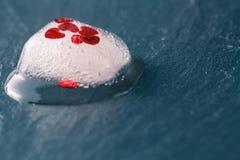 Corazón rojo congelado Foto de archivo libre de regalías
