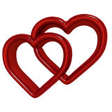 Corazón rojo 3d Foto de archivo libre de regalías