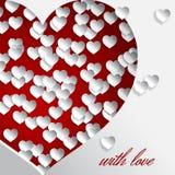 Corazón rojo de Cuted con amor Imagenes de archivo