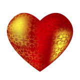Corazón rojo de gran capacidad con los modelos Imagenes de archivo