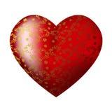 Corazón rojo de gran capacidad con los modelos Imágenes de archivo libres de regalías