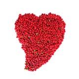 Corazón rojo de la baya Imagen de archivo