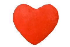 Corazón rojo de la felpa Fotos de archivo libres de regalías