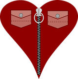 Corazón rojo de la manera para el día del amor Fotos de archivo libres de regalías