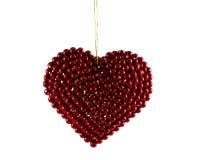 Corazón rojo de la Navidad Fotos de archivo libres de regalías