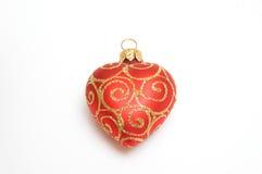 Corazón rojo de la Navidad Imagenes de archivo