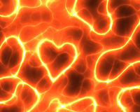 corazón rojo de la potencia de la electricidad ilustración del vector