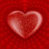 Corazón rojo de la tarjeta del día de San Valentín Fotografía de archivo libre de regalías