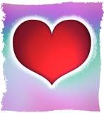 Corazón rojo de las tarjetas del día de San Valentín Imagenes de archivo