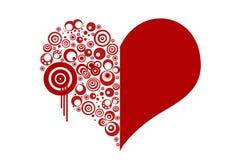 Corazón rojo de las tarjetas del día de San Valentín Imagen de archivo