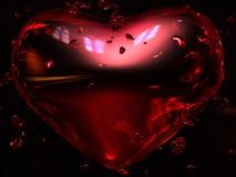 Corazón rojo de rubíes Fotos de archivo