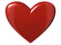 Corazón rojo de rubíes Fotos de archivo libres de regalías