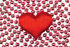 Corazón rojo de seda Imagen de archivo libre de regalías