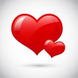Corazón rojo del amor ilustración del vector