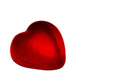 Corazón rojo del chocolate de la hoja Imágenes de archivo libres de regalías