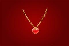 Corazón rojo del culombio Imagen de archivo libre de regalías